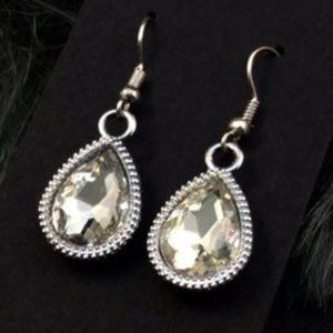 CZ Crystal Teardrop Earrings